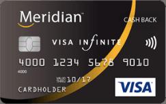 Meridian Visa Infinite Cash Back Card